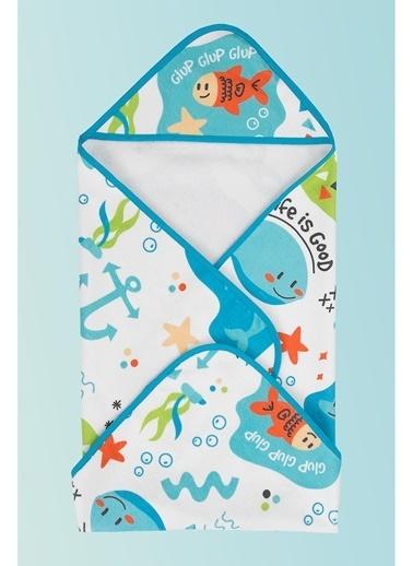 Hamur Bebek Kundak Plaj Havlusu Fish 75x75 cm Renkli